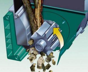 broyeur de végétaux Bosch AXT 25 D rotor porte couteaux